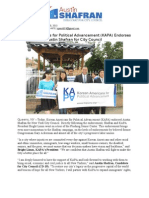 Korean Americans for Political Advancement (KAPA) Endorses 