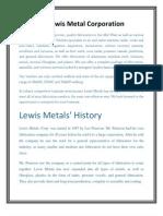 Lewis Metal Corporation
