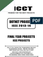 2013-14 Ieee Dotnet Ieee Project Titles Yr 2013-2014, Ncct .Net Ieee Project List