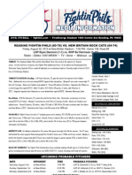 083013 Reading Fightins Game Notes