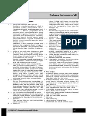 Kunci Jawaban Buku Paket Bahasa Indonesia Kelas 7 Halaman 58 Key