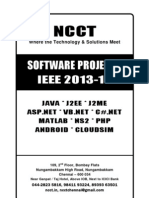 Software Project Titles 2013-14, IEEE