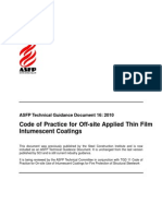 ASFP TGD 16 - Code of Practice for Off-Site Applied Thin Film Intumescent Coatings