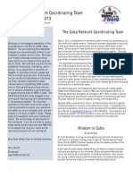 Volume 1 Number 1 LWW Cuba Network Newsletter