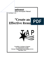 F-TAPSupplement-CreateanEffectiveResume8.9.07