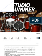 NI Kontakt Studio Drummer Manual English