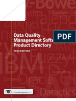 Data Quality Product Directory 2009