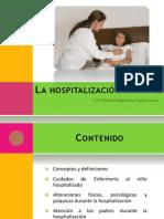La hospitalización infantil