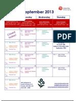 Jessie's - September 2013 Calendar