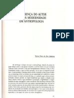 CALDEIRA, Tereza Pires do Rio. A Presença do Autor e a Pós-Modernidade em Antropologia.