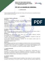 Reglamento Asamblea General