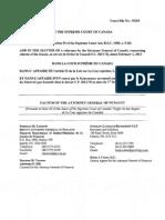 Nunavut - Supreme Court reference on Senate reform
