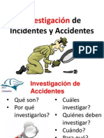 Investigación de Accidentes e Incidentes
