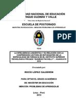 Tesis de Maestria de Rocio Lopez