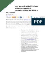Cómo Proteger una aplicacion Web Frente ataques HTML