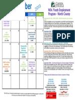 September 2013 North County Calendar