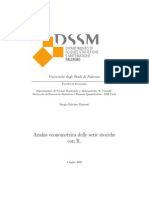 Analisi Econometrica Delle Serie Storiche Con R