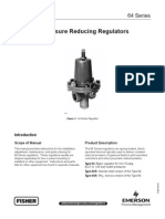 Pressure Reducing Regulator FISHER Manual Serie 64