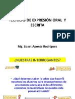 14. TÉCNICAS DE EXPRESIÓN ORAL  Y ESCRITA