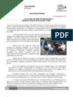 29/08/13 Germán Tenorio Vasconcelos MÁS DE 2MDP EN MOBILIARIO Y EQUIPO PARA CASAS DE SALUD, SSO