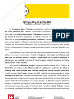 Festival della Politica - Cartella Stampa (luglio 2013)