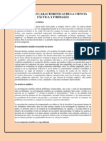 PRINCIPALES CARACTERISTICAS DE LA CIENCIA FÁCTICA Y FORMALES