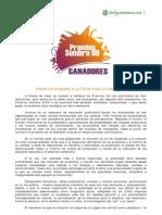 Informe Final Premios Sombra 2009