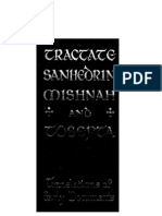 Tractate Sanhedrin Mishna and Tosefta 1919