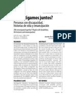 INVESTIGAMOS JUNTOS, PERSONAS CON DISCAPACIDAD, HISTORIAS DE VIDA Y EMANCIPACIÓN
