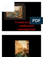 Venetia in Pictura Romaneasca Contemporana