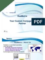 Custom Conjugations at ReaMetrix