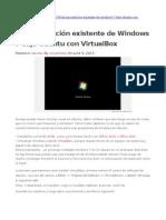 VirtualBox Windows 7 Ubuntu