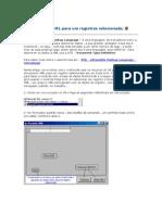 Gerando XML Para Um Registros Selecionado