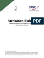 Fachkanon Biologie 2013