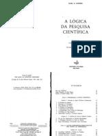 POPPER, Karl (1959) A Lógica da Pesquisa Científica