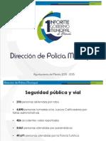 Informe de la Dirección de Policía Municipal