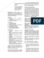 Law on Partnership and Corporation Study Guide