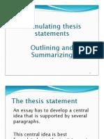 TS, Outline, Summary