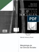 Marradi, Archenti y Piovani - Metodología de las Ciencias Sociales1