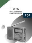 Eton 1100 FM/AM/SW Radio Maunual