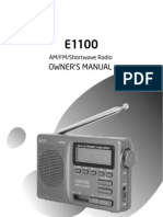 Eton 1100 FM/AM/SW Radio Maunual