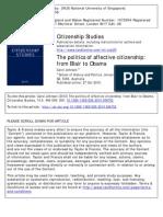 Politics of Affective Citizenship