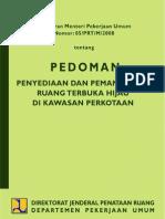 Peraturan Menteri Pekerjaan Umum No. 5 Tahun 2008