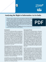 Analysing the Right to Information Act in India