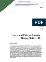 Creep and Fatigue Damage During Boiler Life