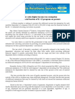 aug31.2013Lawmaker seeks higher income tax exemption to ease financial burden of K+12 program on parents