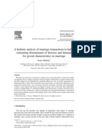 A Hedonic Analysis of Marriage Transactions in India, Estimating Determinants of Dowries and Demand for Groom Characteristics in Marriage