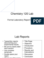 120 Formal Chemistry Lab Report Format
