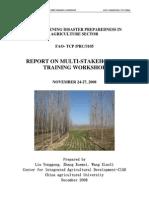 Multistakeholder Report