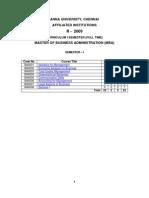 Anna University MBA Syllabus I Sem (Regulation  2009)